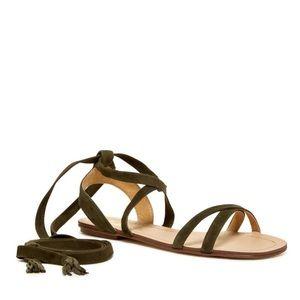 Splendid Janelle suede ankle wrap sandals